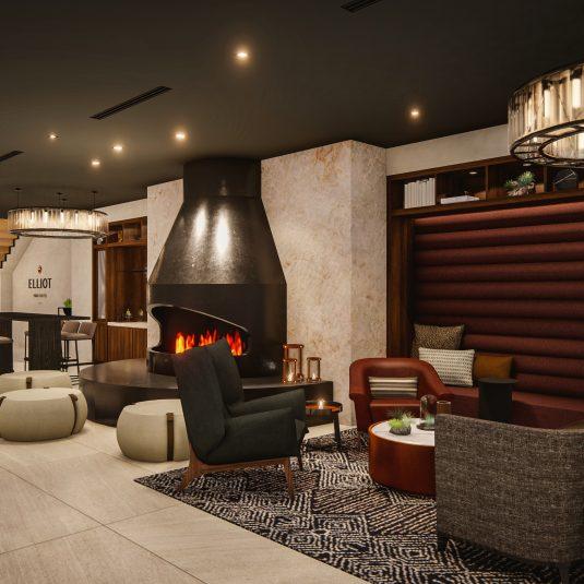Elliot Park Fireplace