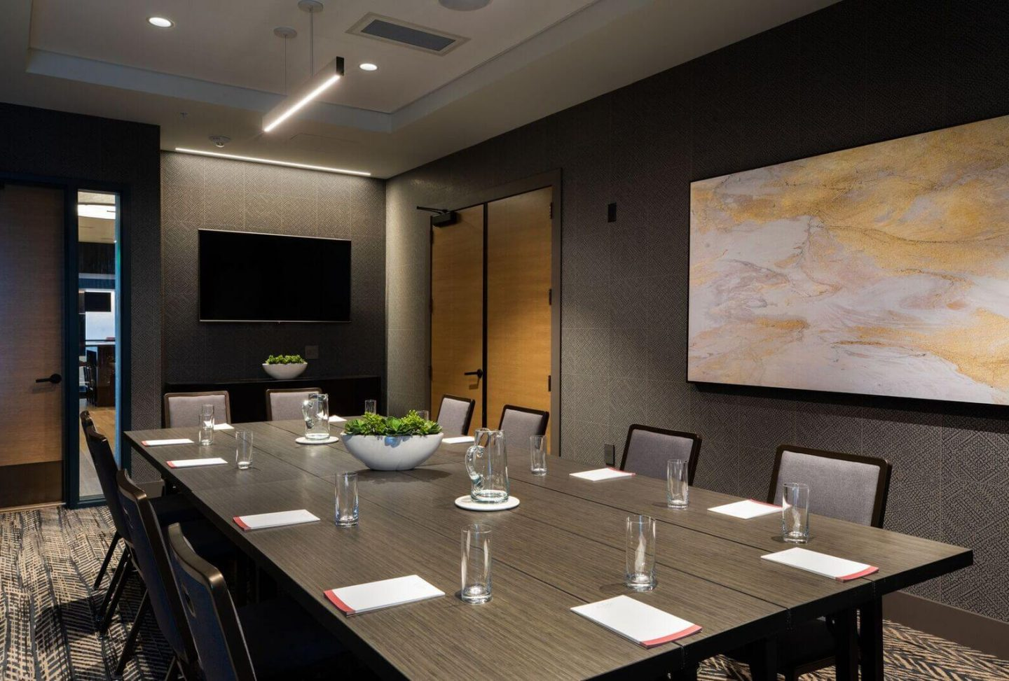 Meeting room at Elliot Park Hotel, Minneapolis