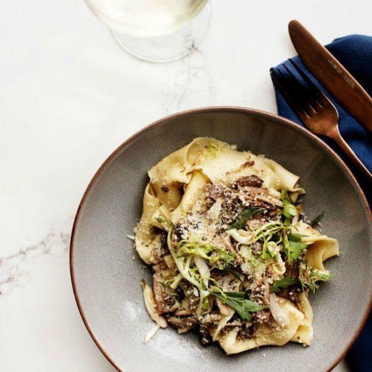 Handmade pasta at Tavola restaurant, Elliot Park Hotel
